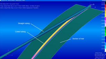 Finite Element Analysis of bending of composite tubing